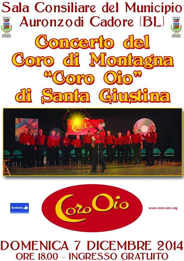 Domenica 7/12/2014 ore 18:00 c/o Sala Consiliare del Municipio di Auronzo
