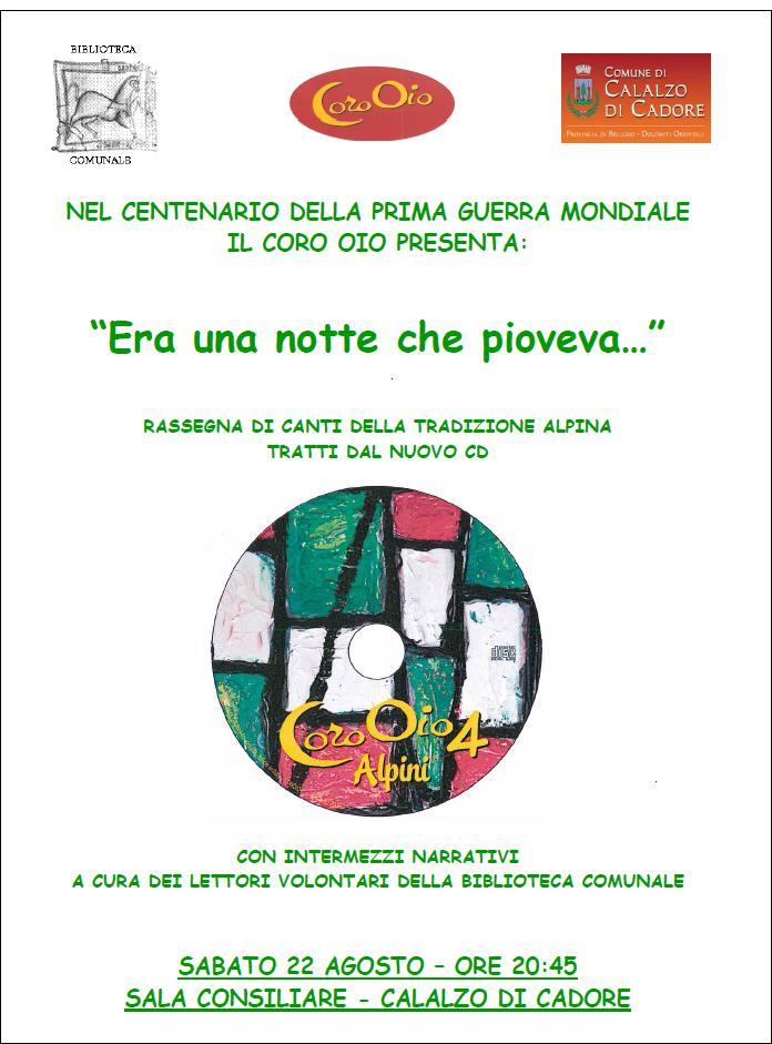 PRESENTAZIONE CD 4 ALPINI_ Calalzo